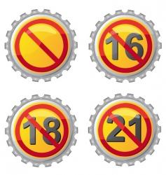 beer lids vector image