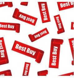 best buy sticker seamless pattern background vector image