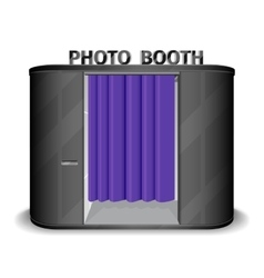 Black photo booth vending machine vector