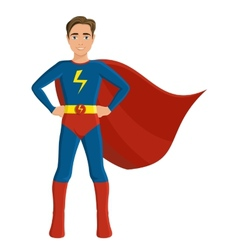 Boy in superhero costume vector image