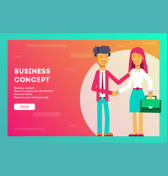 business concept businessmen are shaking hands vector image
