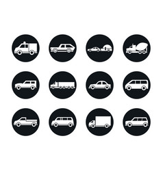 car model truck container pickup container vector image