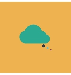 cloud thought icon vector image