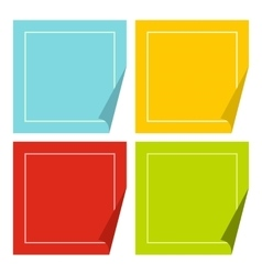 Color stickers icon flat style vector image