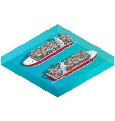 Container ship tanker or cargo ship vector