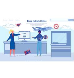 convenient service book tickets online cartoon vector image