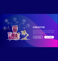creative concept creator generates idea vector image