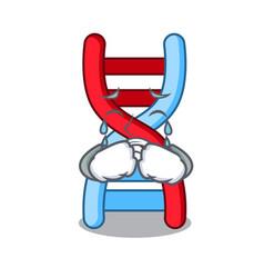 Crying dna molecule mascot cartoon vector