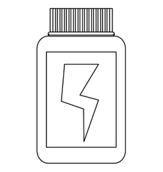 dietary supplement container vector image
