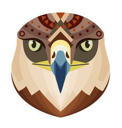 Eagle head logo monkey decorative emblem vector