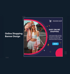 Easy online fashion shop super sale social media vector