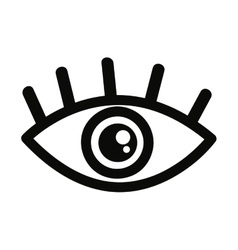 Eye human view icon vector