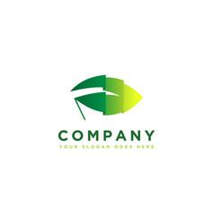 flag leaf logo icon nature nation logo icon vector image