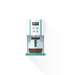 Flat style white coffee machine vector