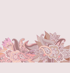 Floral hand drawing background design vector