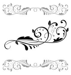 floral ornament set of black dividers vector image