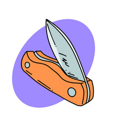 folding knife vector image