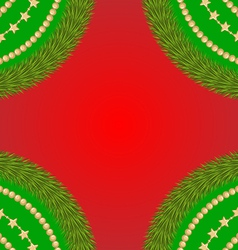 frame fir red vector image vector image