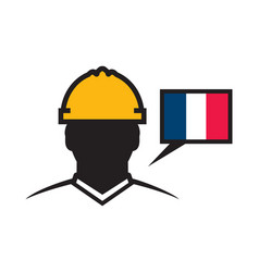 French contractor icon vector