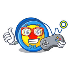 Gamer yoyo mascot cartoon style vector