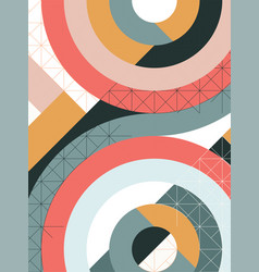 geometry minimalistic pattern poster with simple vector image