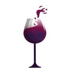 Glass of wine tasty liquor beverage vector
