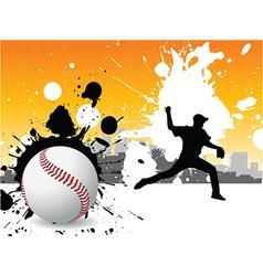 Graffiti baseball vector