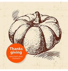 Hand drawn vintage Thanksgiving Day vector
