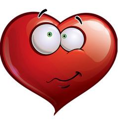 Heart Faces Happy Emoticons Wandering vector image