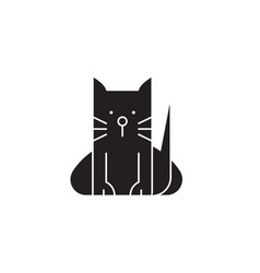 home cat black concept icon home cat flat vector image