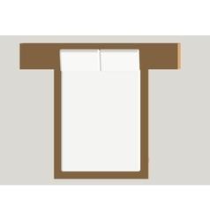 Home furniture - bed Interior element Bedroom vector image