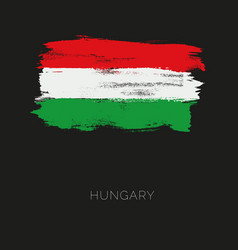 hungary colorful brush strokes painted national vector image