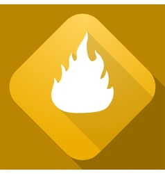 icon of Fire Sign with a long shadow vector image