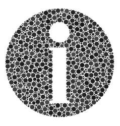 Info mosaic dots vector