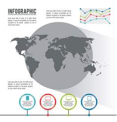 Infographic whole world vector