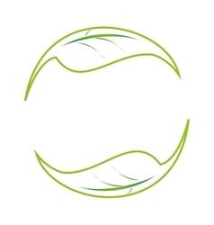leaf leaves nature green symbol vector image
