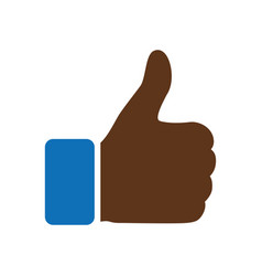 like icon thumbs up symbol and vector image