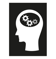 Man and brain vector image
