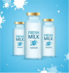 milk drink concept vector image