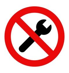 No repair sign vector