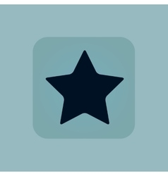 Pale blue star icon vector