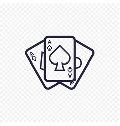 playing card icon casino game ace poker cards vector image