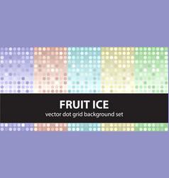 polka dot pattern set fruit ice seamless vector image