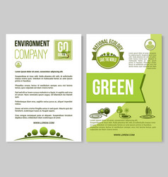 poster for nature environment ecology vector image
