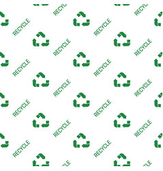 recycled paper green symbol pattern seamless flat vector image