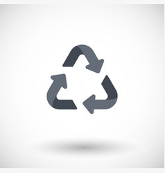 recycling symbol flat icon vector image