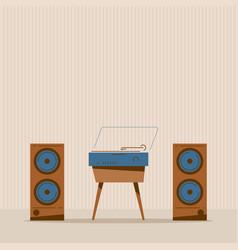 retro music party vector image