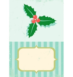 retro of christmas plant vector image