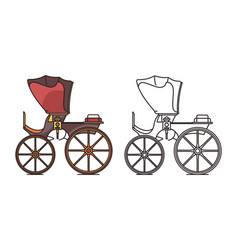 Retro vintage carriage buggy for royal child vector