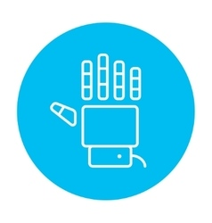 Robot hand line icon vector image